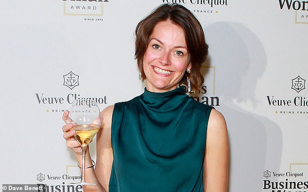 Darktrace boss Poppy Gustafsson (pictured) said the firm was not like Deliveroo and that it followed in the footsteps of mathematicians Charles Babbage, Ada Lovelace and Alan Turing