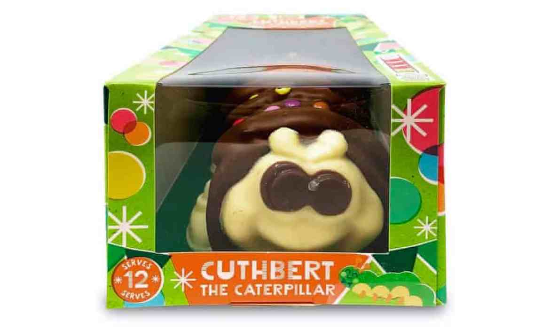 Cuthbert the Caterpillar cake from Aldi.