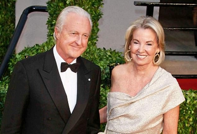 Power couple: Galen Weston was married to wife Hilary - a former Irish fashion model - for 55 years