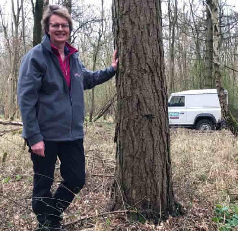 Judith Millidge in woodland