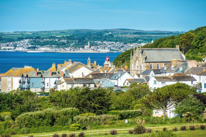 The village of Marazion with Penzance on the horizon: demand is coming from holiday-let landlords, second-home buyers and those who wish to relocate full time to Cornwall
