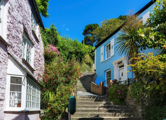 Traditional cottages in Fowey, on Cornwall's south coast