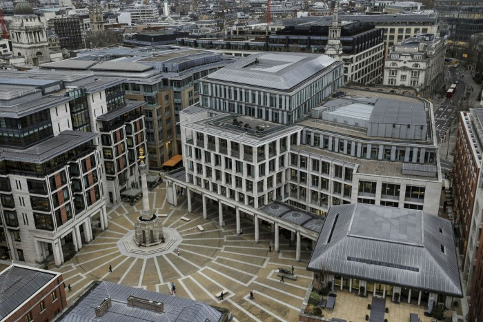 Bids for a one-acre plot in Shoreditch, owned by the London Stock Exchange (pictured), are said to have spiralled from about £120m to more than £150m