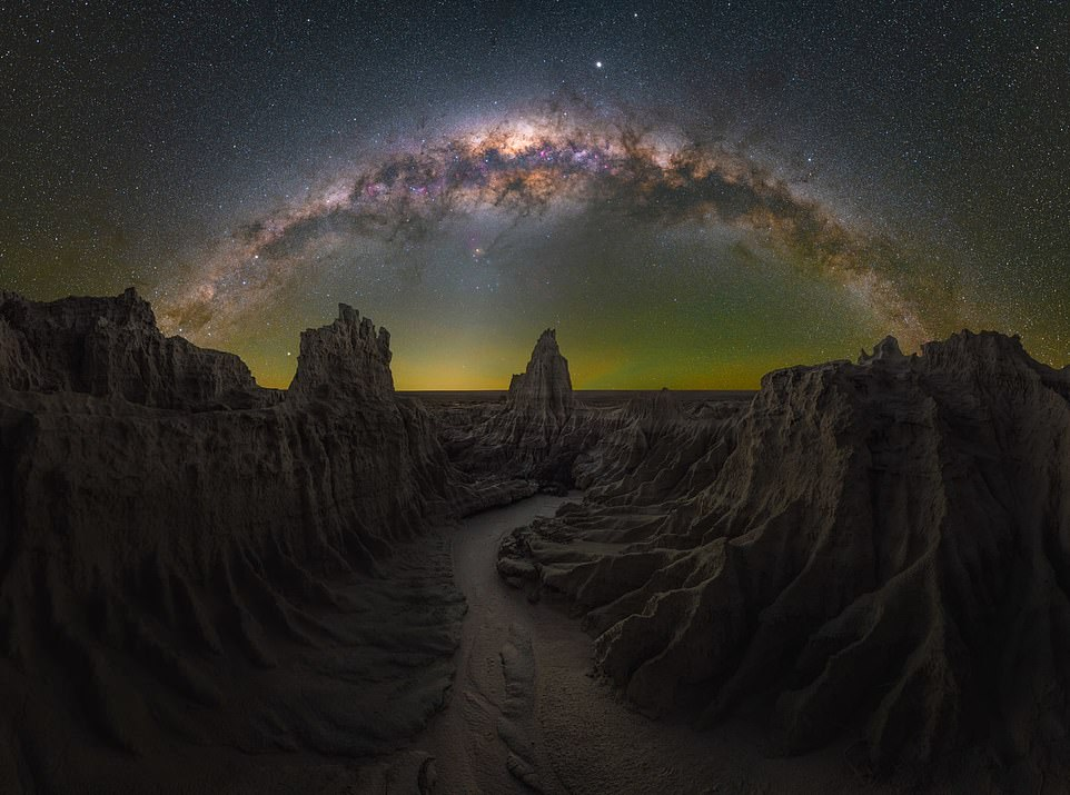 'Dragon's Lair'— by Daniel Thomas Gum inMungo, New South Wales, Australia. Mr Gum said: 'The moment I came upon this scene, I knew exactly what I wanted to the name the image. It was otherworldly— think Game of Thrones— and it lined up perfectly for how I wanted to capture it'