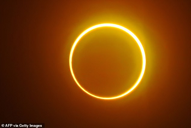 While the UK won't see the 'ring of fire', we will be able to watch a a partial solar eclipse where the Moon covers 32 per cent of the sun