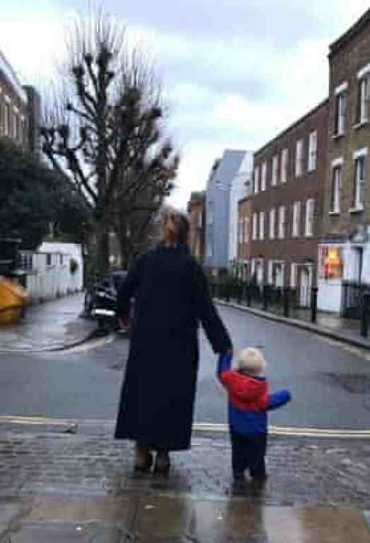Morwenna Ferrier's navy long coat – her last purchase of new clothes in 2020.