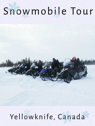 Snowmobile Tour Yellowknife Alberta Canada