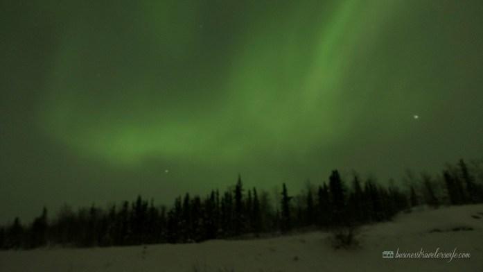 Northern Lights or Aurora Borealis in Yellowknife Canada