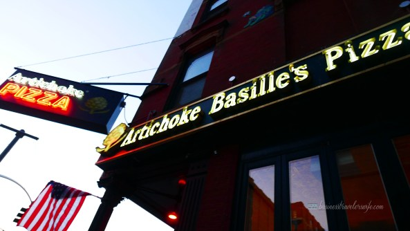 indulge like a food in NYC - what to eat in New York Bastille's Pizza Artichoke Pizza
