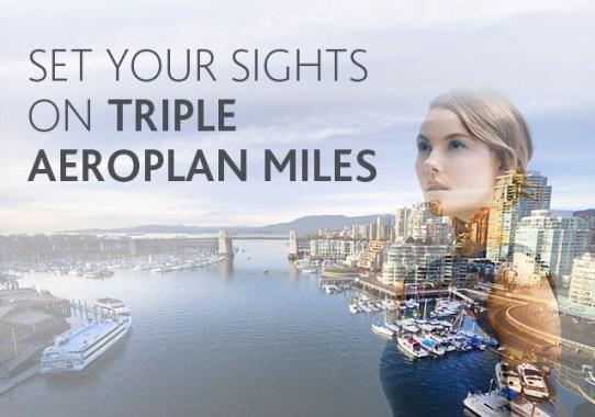 Exclusive Air Canada Promo: Triple Aeroplan Miles