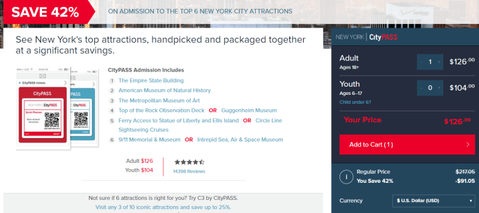 New York Official City Pass Discount Coupons