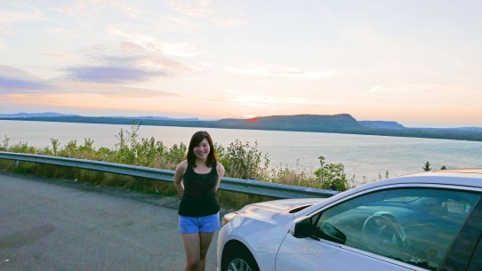 cross-country roadtrip drive from calgary to toronto sunset sky nipigon ontario