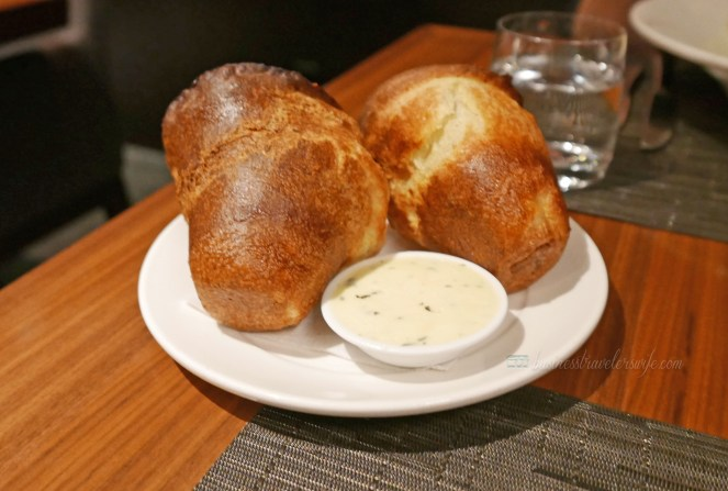 Toronto Jacobs & Co. Steakhouse perfect dinner date cheese popover complimentary appetizer