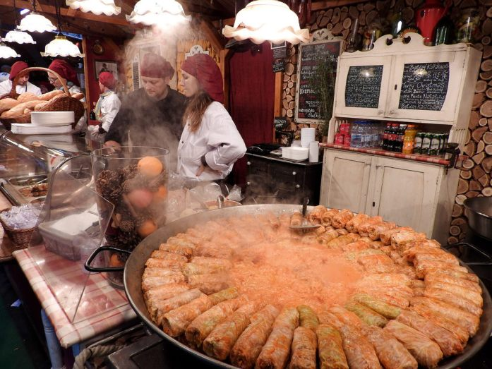 10 Must-Visit Christmas Markets Around the World for Foodies Budapest Christmas Fair Stuffed Cabbage Roll