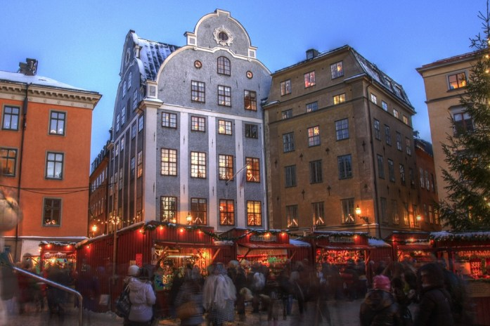 10 Must-Visit Christmas Markets Around the World for Foodies Stortorget Stockholm Old Town Christmas Market