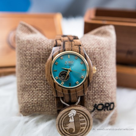 Back to Basics - New Year, New Travel Accessory, New Unique Watch Jord Wood Watch Cora Series Turquoise Zebrawood