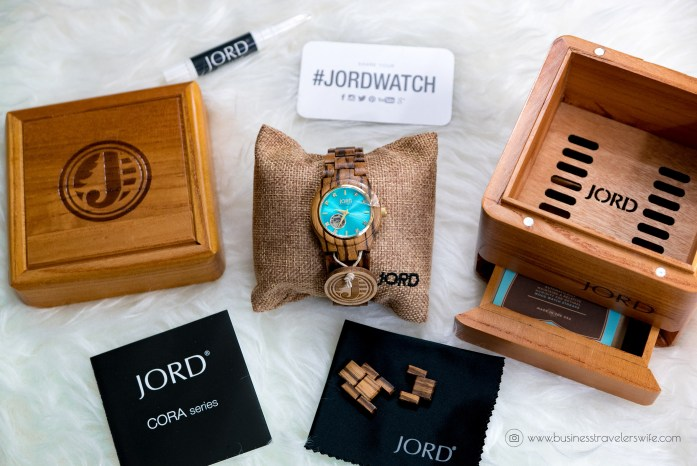 Back to Basics - New Year, New Travel Accessory, New Unique Watch Jord Wood Watch Cora Series Turquoise