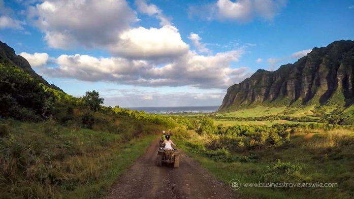 ATV Tour in Kualoa Ranch Oahu Mountain Ridge View