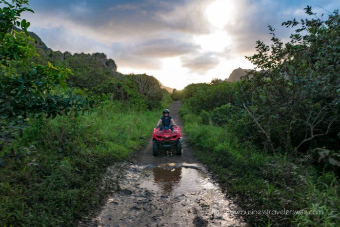 ATV Tour in Kualoa Ranch Oahu Muddy Terrain (1 of 1)