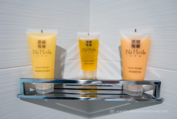 Hotel Review on Hyatt Regency Waikiki Beach Resort & Spa Honolulu Oahu Hawaii Bathroom Amenities Toiletries Na Ho'ola Spa Coco Mango (1 of 1)-2