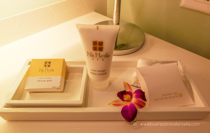Hotel Review on Hyatt Regency Waikiki Beach Resort & Spa Honolulu Oahu Hawaii Bathroom Amenities Toiletries Na Ho'ola Spa Coco Mango (1 of 1)
