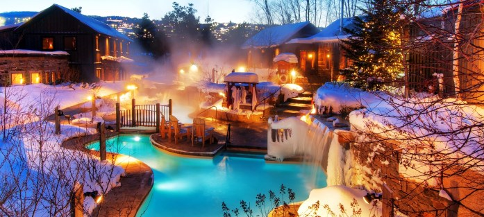Winter evening Relaxing Getaway at Scandinave Spa Blue Mountain