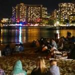 Countdown to New Year at the Waikiki Beach