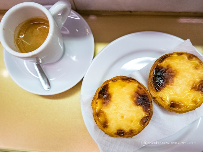 15 Travel Tips for Your First Trip to Lisbon Portugal Pastel de Nata Portuguese Egg Tart Portuguese coffee espresso