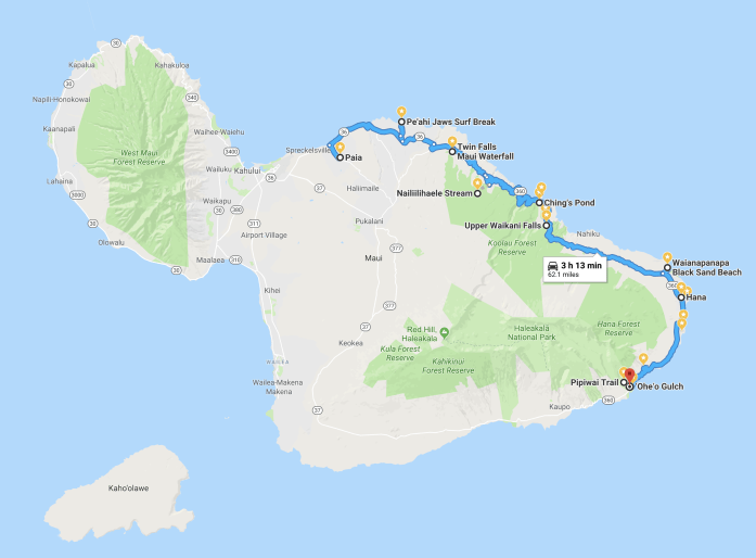 10 Memorable Stops on the Road to Hana Map for A Self-Drive Tour Maui, Hawaii