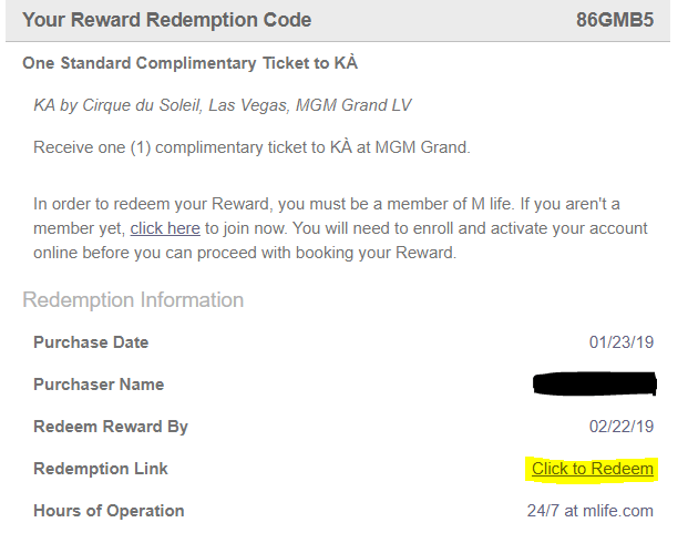Las Vegas Travel Hack: Using myVEGAS Rewards and Hotel Comps KA by Cirque du Soleil how to redeem myvegas rewards