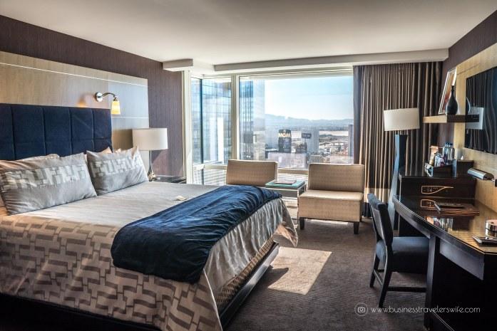 Las Vegas Travel Hack Using myVEGAS Rewards and Hotel Comps mlife aria resort & casino hotel deluxe king room
