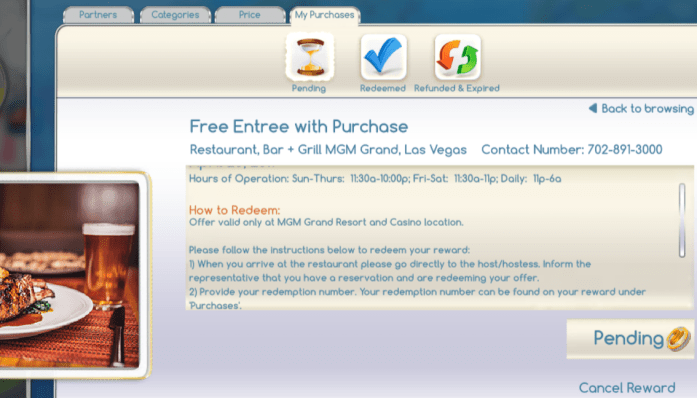 Las Vegas Travel Hack Using myVEGAS Rewards and Hotel Comps reward cancellation