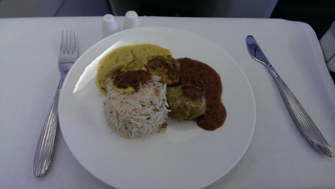 Qatar Airways meal Vineet Bhatia