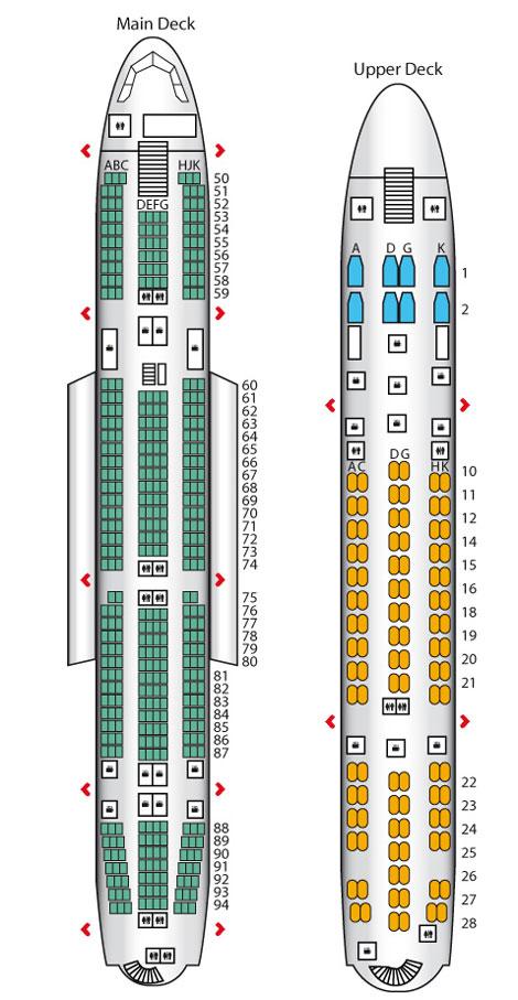 Lufthansa A380 Seatplan