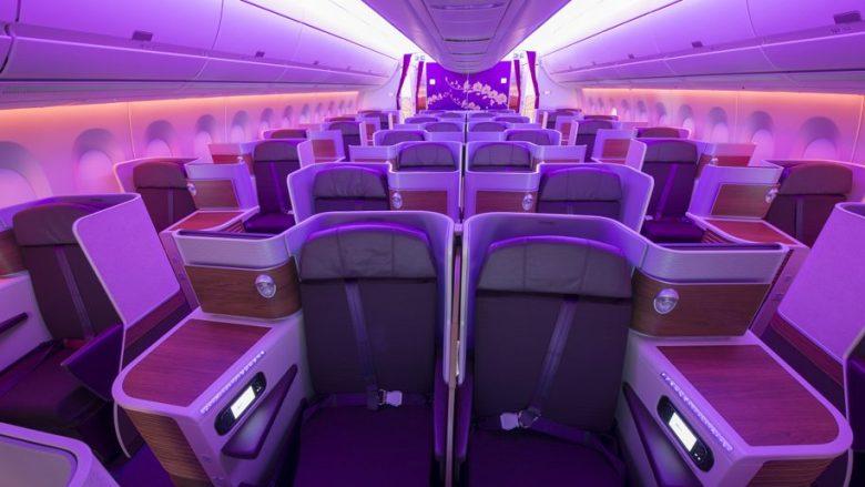 Thai Airways A350 business class cabin