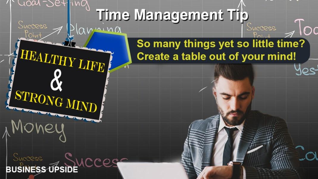 Time Management Tip