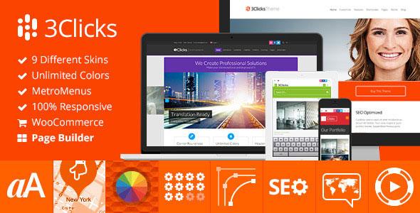 3Clicks v3.4.1 – Responsive Multi-Purpose WordPress Theme