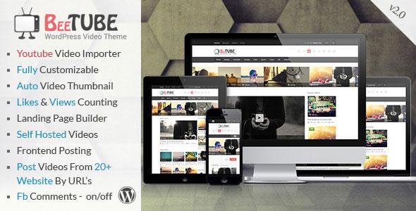 BeeTube v2.0 – Themeforest Video WordPress Theme