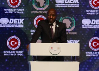 Rwandan prime minister Dr Edouard Ngirente during the 2nd Turkey-Africa Economic and Business Forum