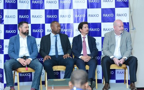 (L-R) Mr James Wilman - Data Centre Consultant at Future-tech (Designer of Raxio DC), James Byaruhanga, Raxio General Manager, Robert Mullins, Lead Partner, Roha Africa (lead investors) and Bernard Geoghegan – of KPL Consult, the (International Consultant for Raxio) address a press conference at Raxio Data Centre's launch on 4th October 2018 at Kampala Serena Hotel.