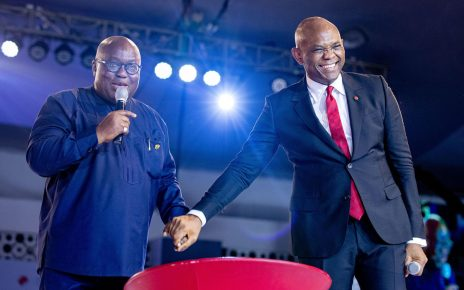 Tony Elumelu Foundation and Chairman, UBA, Mr. Tony O. Elumelu and Ghanaian president Nana Akufo-Addo, at the TEF Entrepreneurship Forum 2018