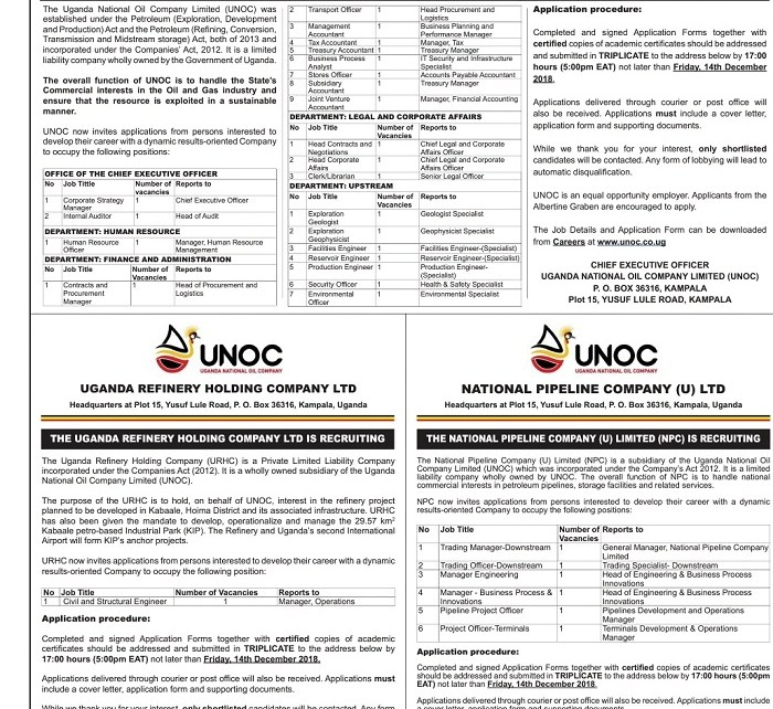 Jobs at Uganda National Oil Company