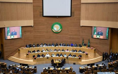 Delegates at the 32nd African Union (AU) summit at the AU headquarters in Ethiopia's capital Addis Ababa