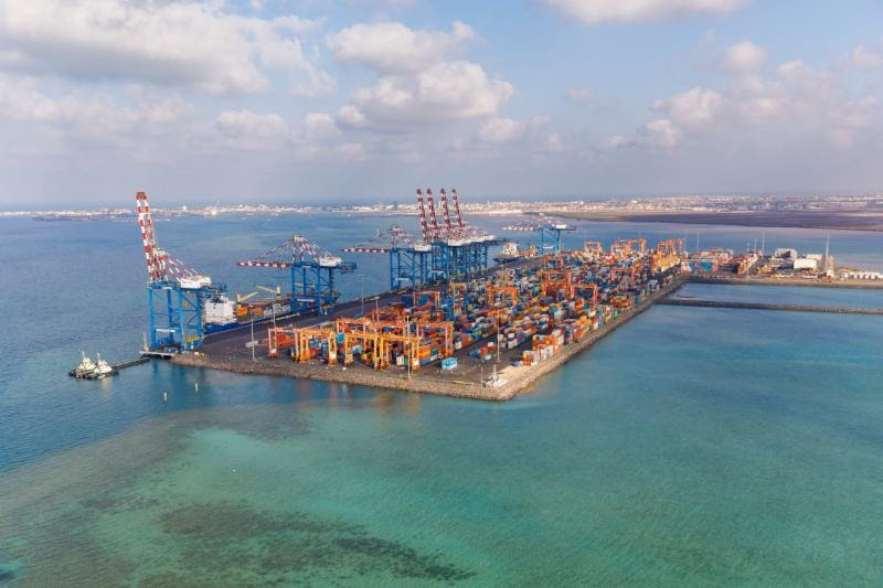 Djibouti, Doraleh's New port of containers . Photo credit: Patrick Robert. February 2018.