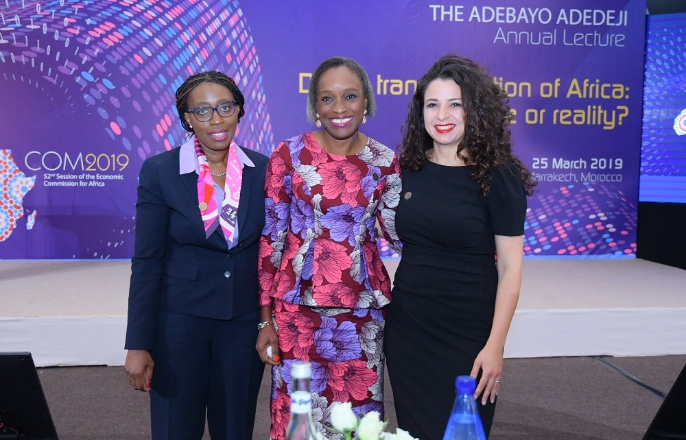 Former Nigerian Minister for Communications Technology, Dr Omobola Johnson, delivered the UN Economic Commission for Africa's (ECA) annual Adebayo Adedeji at the ongoing Conference of Ministers in Marrakech.
