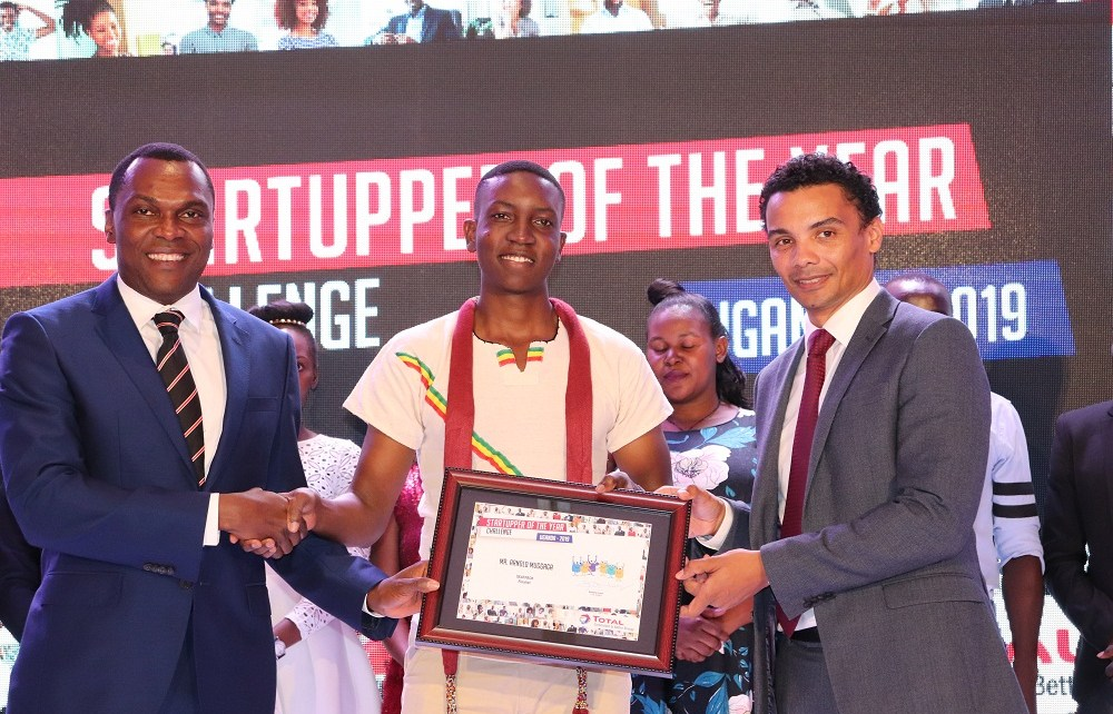Arnold MUGAGA, of SeatPack, an education innovation was declared the winner of the 2018-2019 Startupper of the Year by Total Challenge in UGANDA.