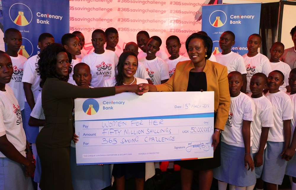 Centenary Bank in partnership with other stakeholders have joined the effort to launch the Women for Her campaign themed 365 savings Challenge at Old Kampala Secondary School. It aims at encouraging the girl child to save so as to be financially empowered. The campaign will cover 50 select schools in a space of 16 months targeting to reach 25,0000 girls.