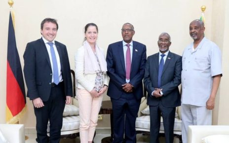 German Ambassador to Kenya, Somalia, and Seychelles, Annett Gunther, was in Somaliland on Monday