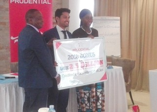 Prudential Uganda has announced that it will payout Ush2.5billion on its clients' savings for the year 2018, which is a 67% (Ush1 billion) increase over what it paid out in 2017.