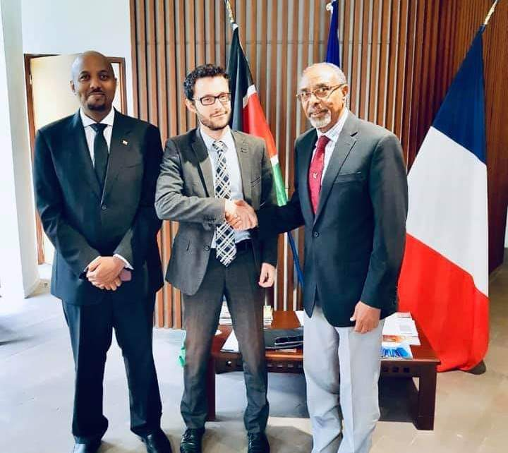 Somaliland's Managing director for Civil Aviation and Airports Authority Abdi Mohammed Rodol during a meeting with the French Commercial Attached at the France embassy in Nairobi recently said there are massive openings in aviation